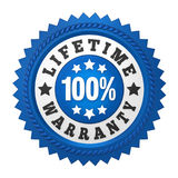 Lifetime Warranty Label Isolated Stock Photo