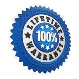 Lifetime Warranty Label Isolated Stock Photos