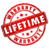 Lifetime warranty stamp Royalty Free Stock Photography
