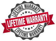 lifetime warranty stamp Stock Images
