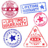 Lifetime Warranty Stamps Stock Photography