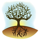 The lifetree. Tree of life created from humanoid shapes Stock Photos