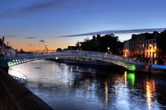 Liffey Bridge Royalty Free Stock Photos