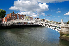 Liffey Bridge over the river Liffey in Dublin City Centre Royalty Free Stock Photo