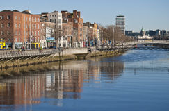 Liffey river Royalty Free Stock Photography