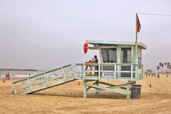 Lifguard shacks Stock Photo