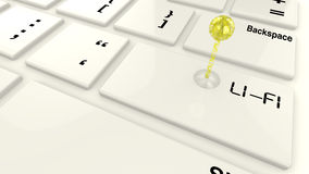 Lifi-Emitter auf Tastatur Stockfotografie