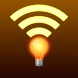 Lifi symbol with bulb Stock Image