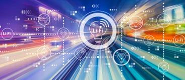 LiFi-Thema mit Hochgeschwindigkeitsbewegungsunschärfe lizenzfreie stockfotos