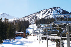 Lift. The view of a lift at Mammoth Mountain, CA Royalty Free Stock Photos