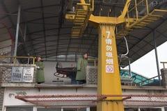 Lift aan Grote Muur van China Stock Foto