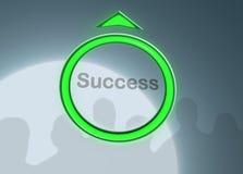Lift aan succes royalty-vrije illustratie