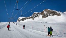 Lift in austrian ski resort in the Alps. Austria Stock Photo