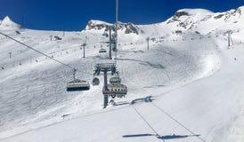 Lift in austrian ski resort Royalty Free Stock Photography