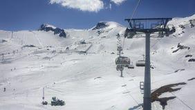 Lift in austrian ski resort Royalty Free Stock Image