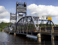 Lift Bridge. The entrance to the Stillwater lift bridge in Minnesota Stock Photos