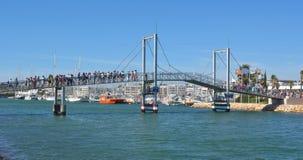 The lift bridge at Lagos marina Stock Photography