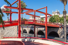 Lift bridge at the marina Port Vell Barcelona Stock Photography