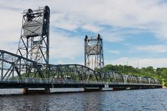 Lift bridge. Over the St. Croix River, Stillwater, Minnesota Stock Photography