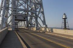 Lift Bridge Road Stock Photo