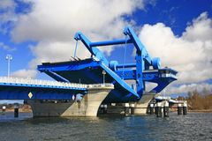 Lift Bridge at  Wolgast, Baltic Sea, Germany Stock Photo