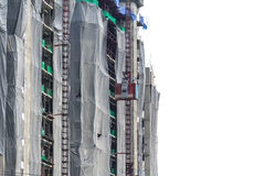 Lift on a building under construction Stock Image