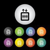 Lift button set Stock Photo