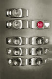 Lift buttons with heart symbol Royalty Free Stock Photos