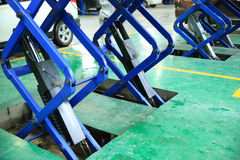 Lift for car maintenance Royalty Free Stock Photos