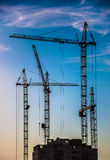 Construction of residential buildings Stock Photos