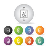 Lift for disabled button set Royalty Free Stock Images