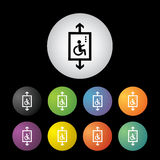 Lift for disabled button set Stock Image