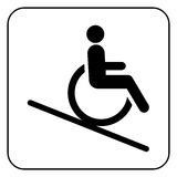Lift disabled icon  sign vector Stock Image
