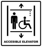 Lift for disabled icon sign vector illustration Stock Photography