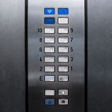 Lift elevator keypad Royalty Free Stock Images