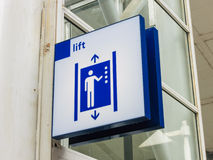 Lift/elevator sign Stock Photos