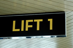 Lift and elevator sign Royalty Free Stock Photo