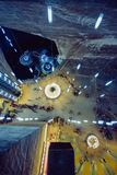 Lift en ondergronds meer in Solina Tudra, Transsylvanië, Roemenië Royalty-vrije Stock Afbeeldingen