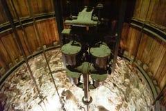 Lift inside mineshaft of salt mine royalty free stock photo