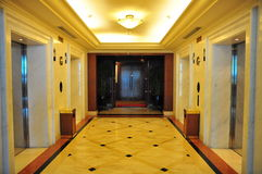 Lift lobby. In a modern building Royalty Free Stock Images