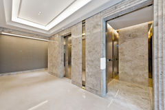Lift lobby in beautiful marble Royalty Free Stock Images