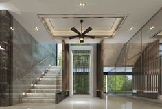 Lift Lobby design ,interior of modern luxury style royalty free illustration