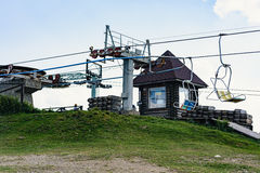 Lift mechanism on top of the hill. Stock Photography