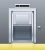 Lift met geopende deur stock illustratie