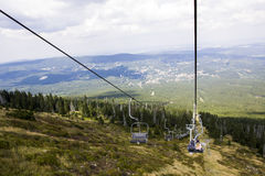 Lift mountain summer. Giant Poland Royalty Free Stock Photography