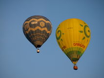 Lift-off of balloons, Naleczow, Poland Royalty Free Stock Image