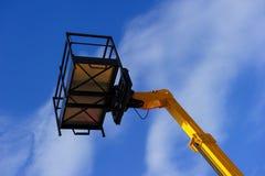 Lift platform with bucket Royalty Free Stock Photo