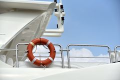 Lift ring on yacht Stock Images