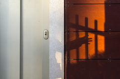 Lift and shadow. A lift and beside a shadow at sunset Stock Photo