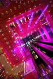 Lift shaft inside hall of Costa Deliziosa. PERSIAN GULF - APRIL 14: lift shaft inside illuminated hall of Costa Deliziosa - the newest Costa cruise ship, 14 Royalty Free Stock Images